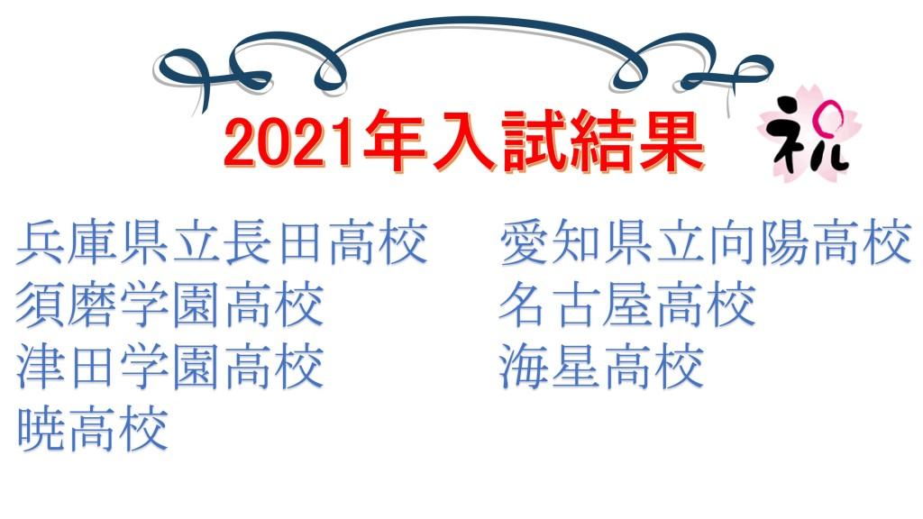2021年入試結果